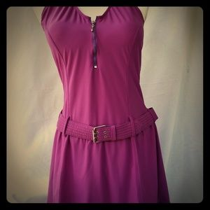 Shape FX Purple Swim Dress